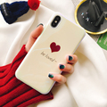 Be loved blue Ray Case for iphone X 6 6s 6plus 7 7Plus 8 8plus Shinny mirror Soft IMD Phone Back Cover Cases Coque