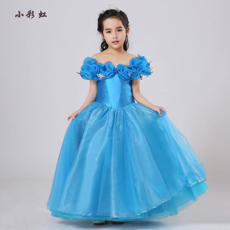 2017 New baby clothing Girls Party Dress Embroidered Formal Bridesmaid Wedding Girl six-one  Princess Ball Gown Kids Vestido kids girls bridesmaid wedding toddler baby girl princess dress sleeveless sequin flower prom party ball gown formal party xd24 c