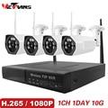 Wetrans CCTV Camera System 2018 New 1080P HD H.265 Security IP Camera Outdoor Wifi NVR Kit Video Surveillance Wireless Cam Set