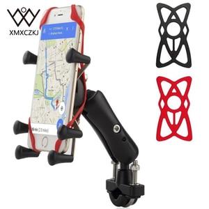 Image 1 - Универсальный держатель для телефона для велосипеда, мотоцикла, MTB, с регулируемой рейкой, X Grip, для iPhone, Samsung, GPS