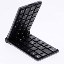 Teclado plegable Bluetooth Teclado 4.2 Teclado para Android IOS Windows Tablet klavye teclado Plegable Negro