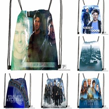Custom Stargate Atlantis Drawstring Backpack Bag Cute Daypack Kids Satchel (Black Back) 31x40cm#180531-02-53