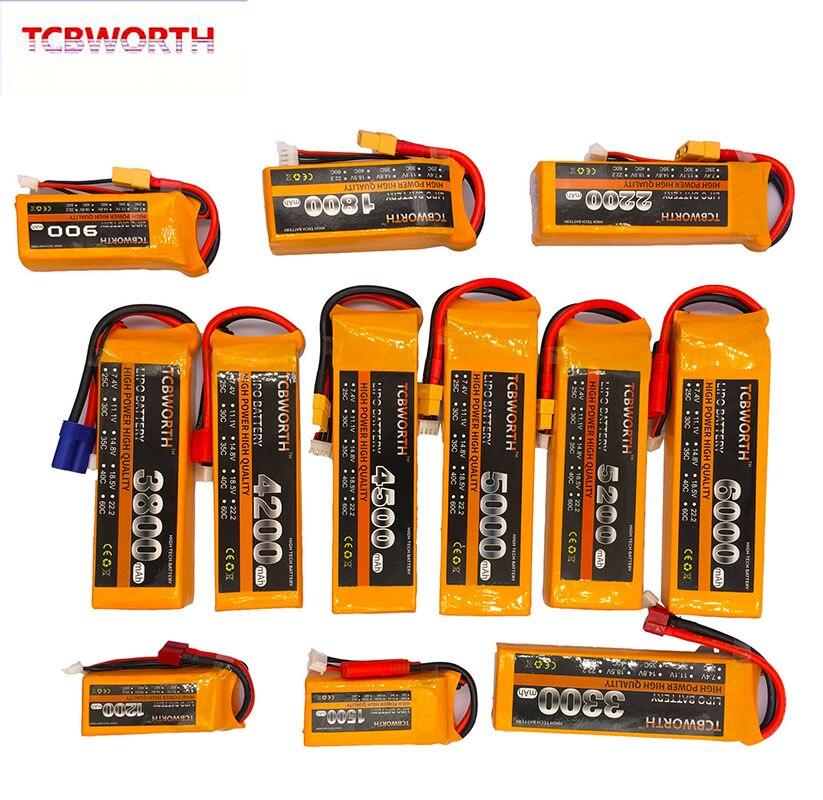 3 S RC batería LiPo 3 S 11,1 V 3000 mAh 3300 mAh 3500 mAh 4200 mAh 5000mAh6000mAh 25C 35C 60C para RC Quadrotor Drone 3 S Lipo