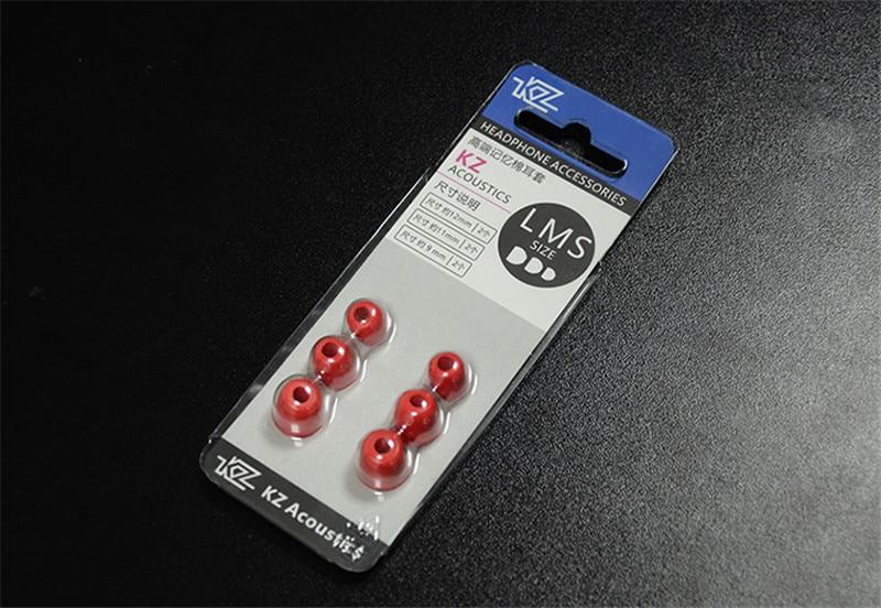 KZ 3 Pairs/set Noise Isolating Memory Ear Tips Silicone In-ear Earphone Earbuds Tips Earphone Accessories - ANKUX Tech Co., Ltd