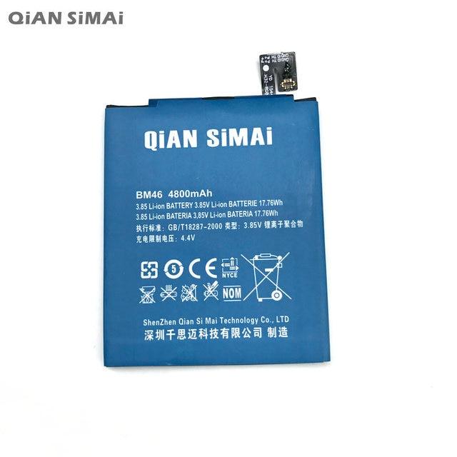 QiAN SiMAi 1pcs 100% High  Quality BM46 4800mAh Battery For xiaomi hongmi redmi note3 note 3 Mobile phone + Tracking Code