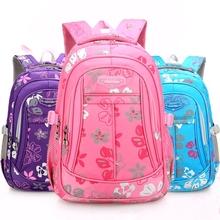 Duża pojemność dzieci szkolne torby dla nastolatków plecak dla dziewcząt wodoodporny trwały i oddychający plecak szkolny mochilas escola tanie tanio Nylon zipper Floral Torby szkolne Unisex