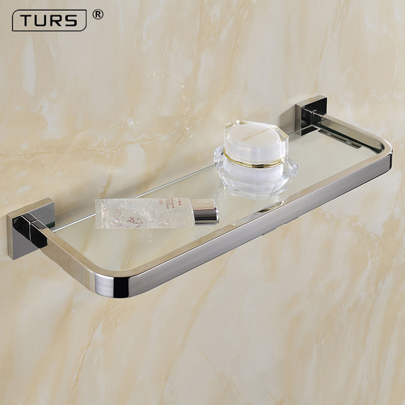 Mirror Polished SUS 304 Stainless Steel Glass Toilet Shelf Solid Square 55 CM Length for Single Layer Towel Rack polished stainless steel ice utility tong 30cm length