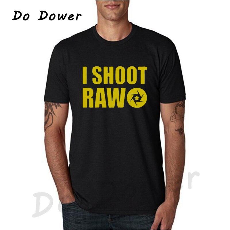 2018 лето я стрелять сырья футболки Для мужчин Топы корректирующие фотограф футболка Повседневное хлопок короткий рукав фотографии футболка...