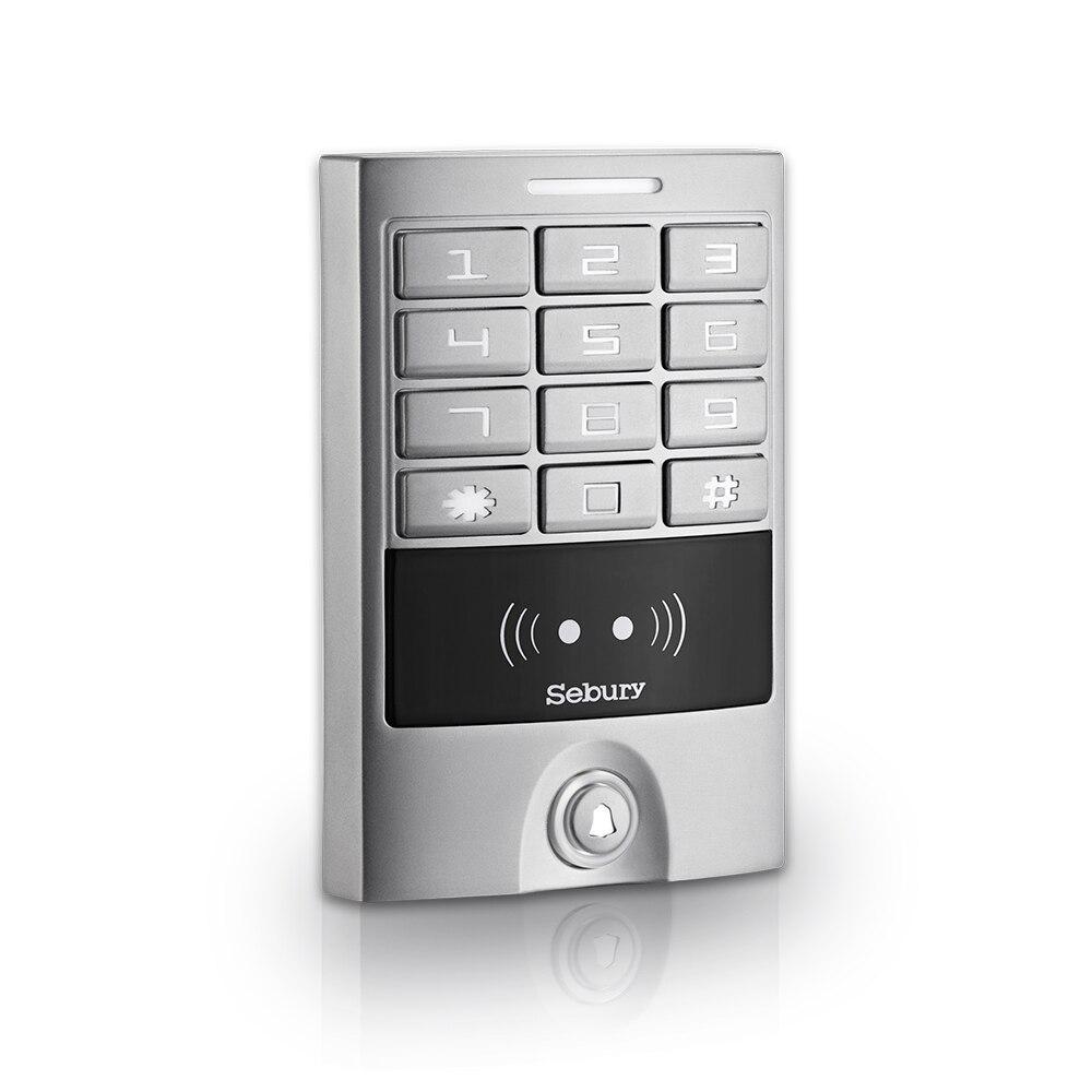Sebury WG26 IP65 Metal Waterproof Door Access Keypad RFID Proximity Card Reader