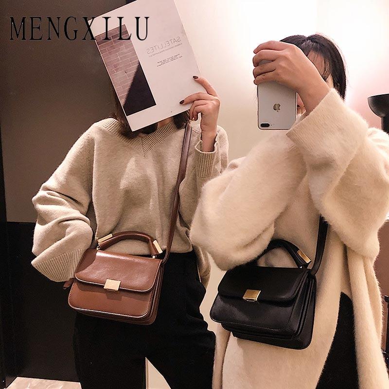 High Quality Messenger Bag Female Pearl Solid Crossbody Bags For Women 2019 Fashion Belts Handbags Women Shoulder Bags Designer