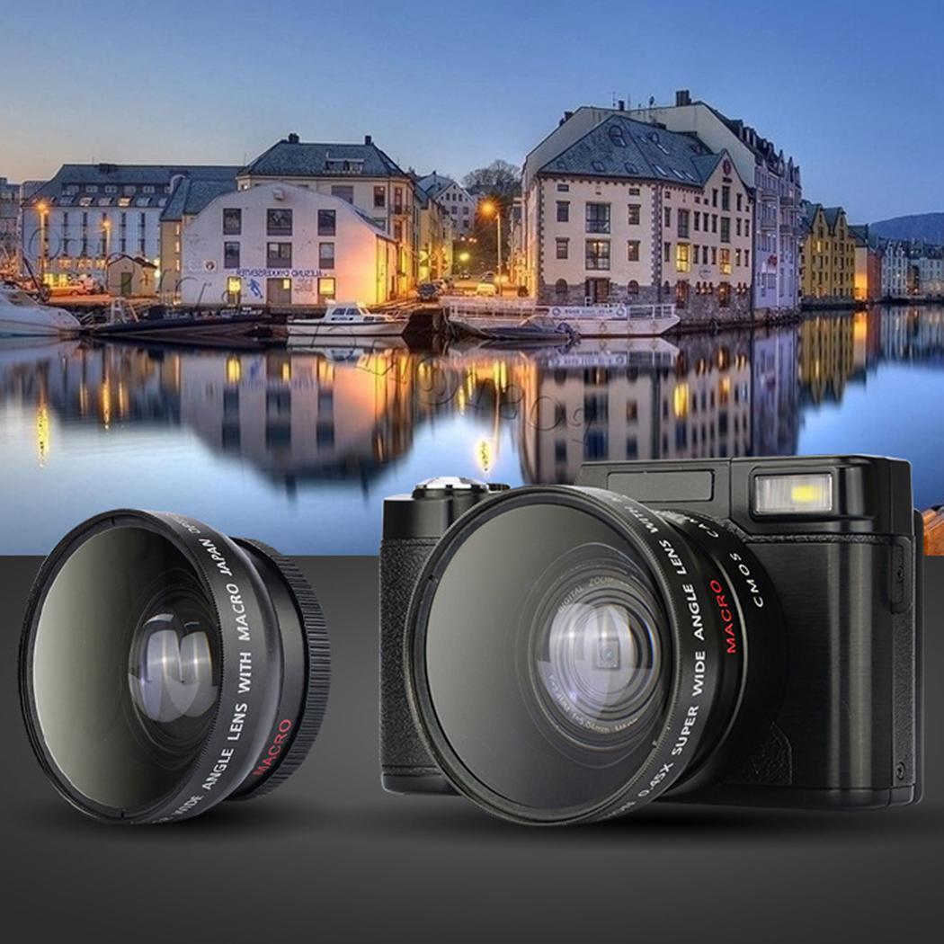 P11 флип экран беспроводной wifi Full HD 1080 P 24MP 16X зум Цифровая камера видеорегистратор - 4