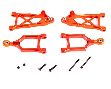 Baja CNC Front Alloy Arm Set for 1/5 hpi baja 5b parts km rovan alloy front hub carrier for 1 5 hpi baja 5b 5t 5sc