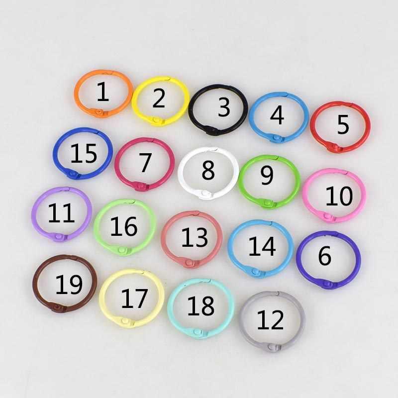 30 шт. Meetee Красочные 30 мм O D металлические пряжки для ключей DIY сумка ручной работы кошелек для одежды книга открытие круг свободный лист связывания катушки