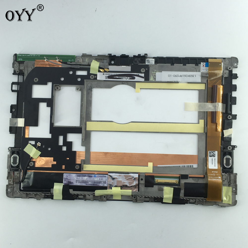 LCD Display Panel Screen Monitor Touch Screen Digitizer Glass Assembly For Asus Eee Pad Transformer TF101 used parts lcd display monitor touch screen panel digitizer assembly frame for asus memo pad smart me301 me301t k001 tf301t