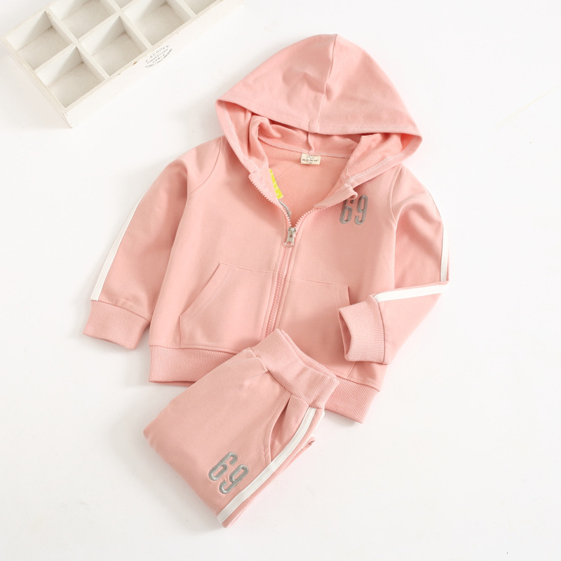 Embroidery pull children suit with cap zipper shirt casual pants two-piece set autumn children's clothing wholesale alfani new olive pull on zipper pants 14 $69 5 dbfl