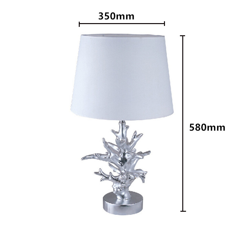 FUMAT Coral Table Lamps Modern White Fabric Lampshade Abajour Para Quarto  Living Room Abat Jour Pour Lampe Study Coral Lamp In Table Lamps From  Lights ...