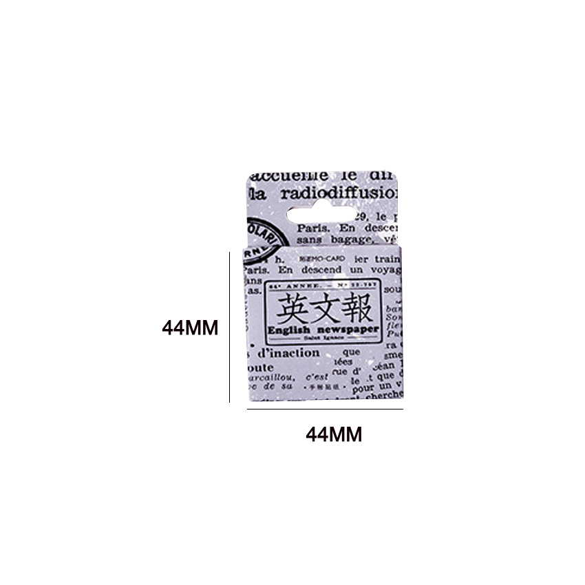 Купить с кэшбэком 46pcs/box Vintage English Newspaper Diary Paper Label Sealing Adhesive Scrapbooking Decorative DIY Stickers