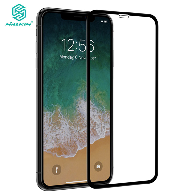 3D CP+Max Glass for iPhone XS Max Nillkin Screen Protector Curve Full Coverage 9H Arc Premium Tempered Glass for iPhone X XR XS