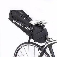 все цены на 10L Cycling Bicycle Tail Mountain Bike Rear Seat Saddle Bag Long Tail Bags Accessories Kit 600D Nylon онлайн