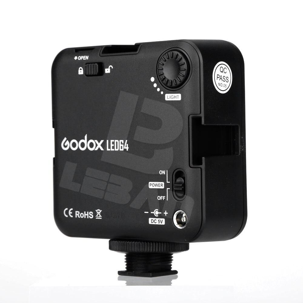 Godox LED64 luce video 64 Luci LED per DSLR Camera Mini DVR come luce di riempimento