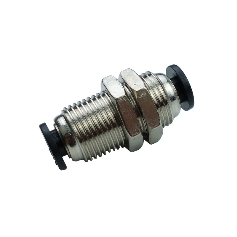 Pneumatic Push In Air Fitting Bulkhead Union Connector 1/2OD PMM1/2 kit engineering pneumatic air driven mixer motor 0 6hp 1400rpm 16mm od shaft