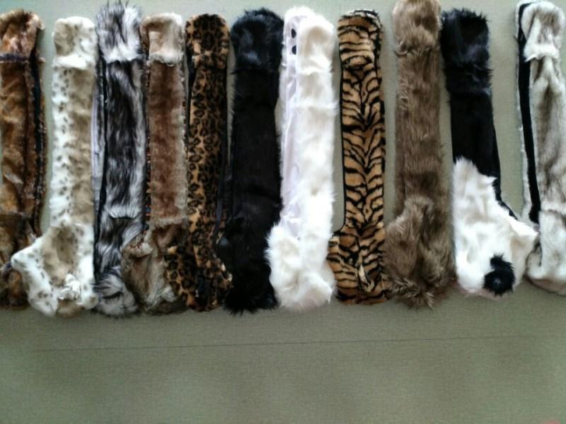 Женский/мужской зимний капюшон из искусственного меха, ушанки для животных, ручные карманы, 3в1, капюшон, шапка, волчий шарф с животными, перчатки, отправка в ближайшее время