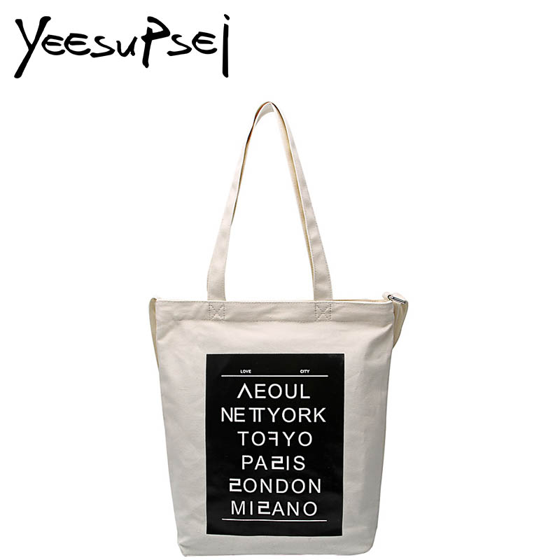 YeeSupSei Handbag Women Bag Designer Casual Lady Shoulder Bag Top Handle Canvas Solid Color Shoulder Tote Bag Large Shopping Bag