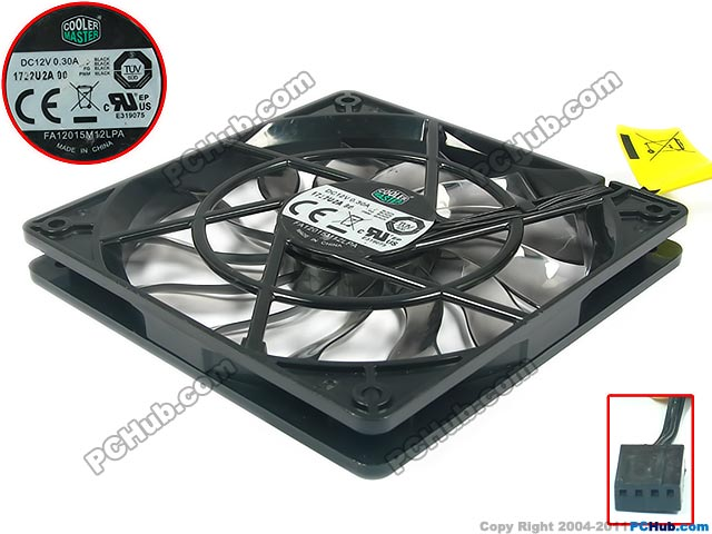 Emacro Cooler Master FA12015M12LPA Server Square Cooling Fan DC 12V 0.30A 120x120x15mm emacro sf8028h12 53a dc 12v 300ma 80x80x28mm server blower fan