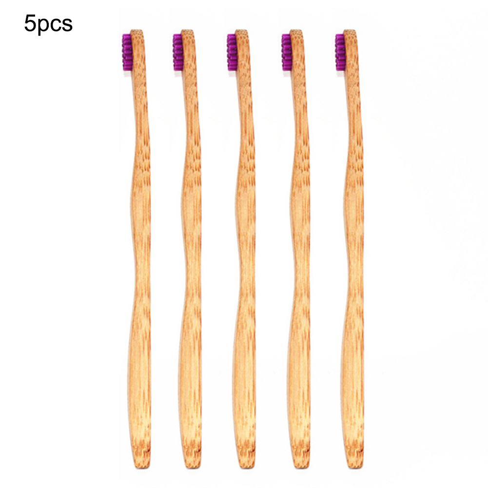5pcs Natural Eco-Friendly Bamboo Tongue Brush Whitening Soft Bristles Toothbrush Eco-friendly Oral Care Clean Tool