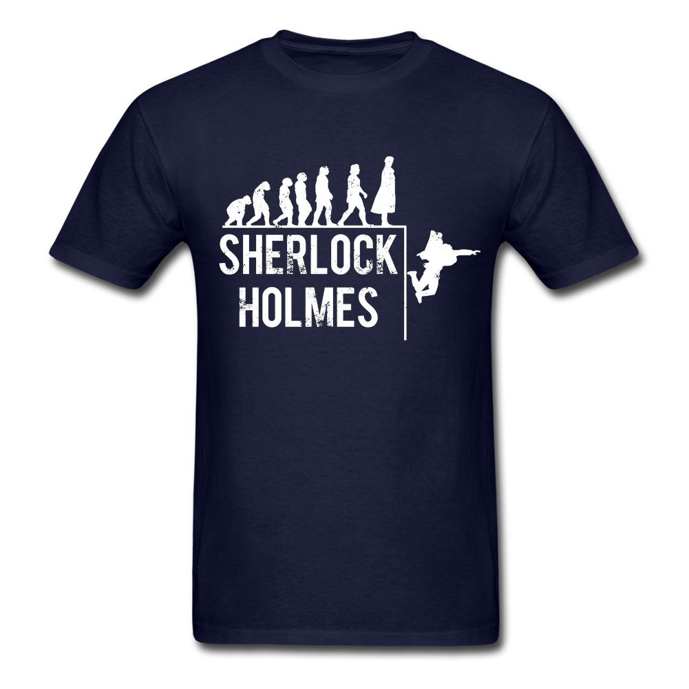 Sherlock Holmes The Evolution Of Man Adult T Shirt Customized T-Shirt Men's Summer O Neck Tshirts Guys New Coming Unique Clothes