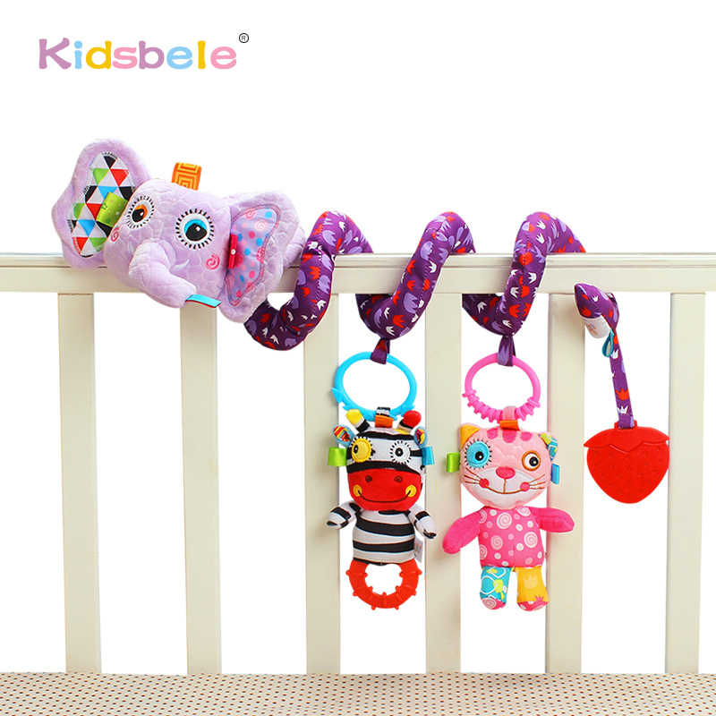 Baby Toys Crib Revolves Around Bed Stroller Hanging Toys Colorful Animal Soft Rattle Toys For Children Infant Learning Toy
