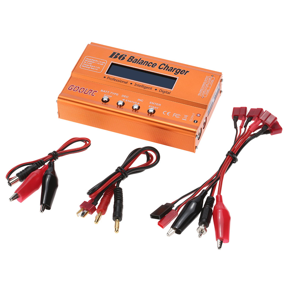 GoolRC B6 Mini Multi-functional Balance Charger Discharger for LiPo Battery Lilon LiFe NiCd NiMh Pb RC Battery RC Car Parts Dron (17)