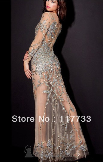 Aliexpress.com : Buy hot sale Tulle Prom Dresses 2013 Sequin Sexy ...