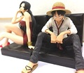 12cm One piece Boa Hancock Luffy Anime Action Figures PVC Collection Model toys for christmas gift free shipping