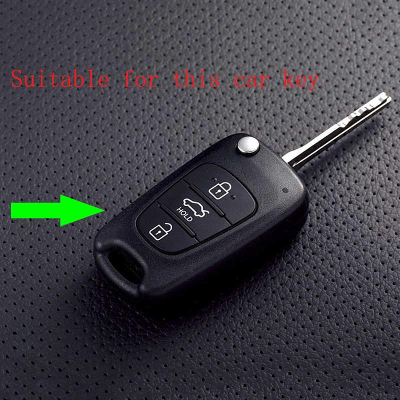 6 silikon renkler anahtar tutucu kabuk kapak fit için Kia RIO K2 K5 Hyundai i20 i30 i35 iX20 iX35 3 düğme kat uzaktan anahtar kutu