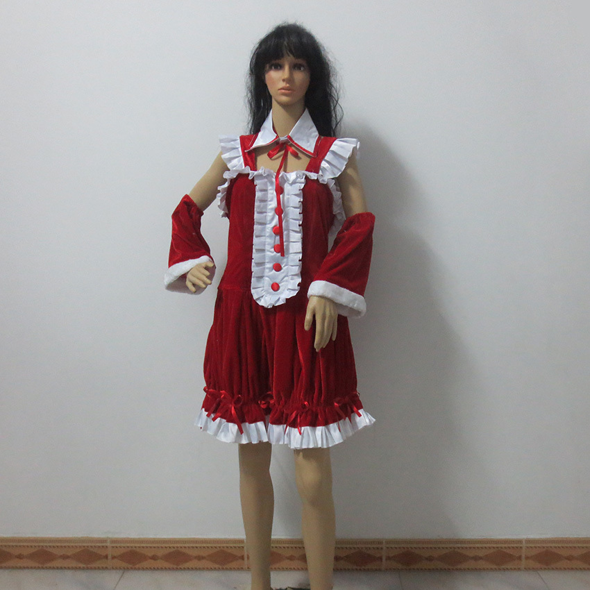 Nitro Super Sonic Super Sonico Christmas Style Cos Party Halloween Uniform Outfit Cosplay Costume Customize Any Size