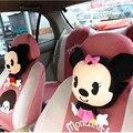 Accesorios de automóviles de Mickey Ratón de Dibujos Animados de Coches Reposacabezas Bolster Ayuda Del Cuello Novia de Regalo de Cumpleaños de Minnie