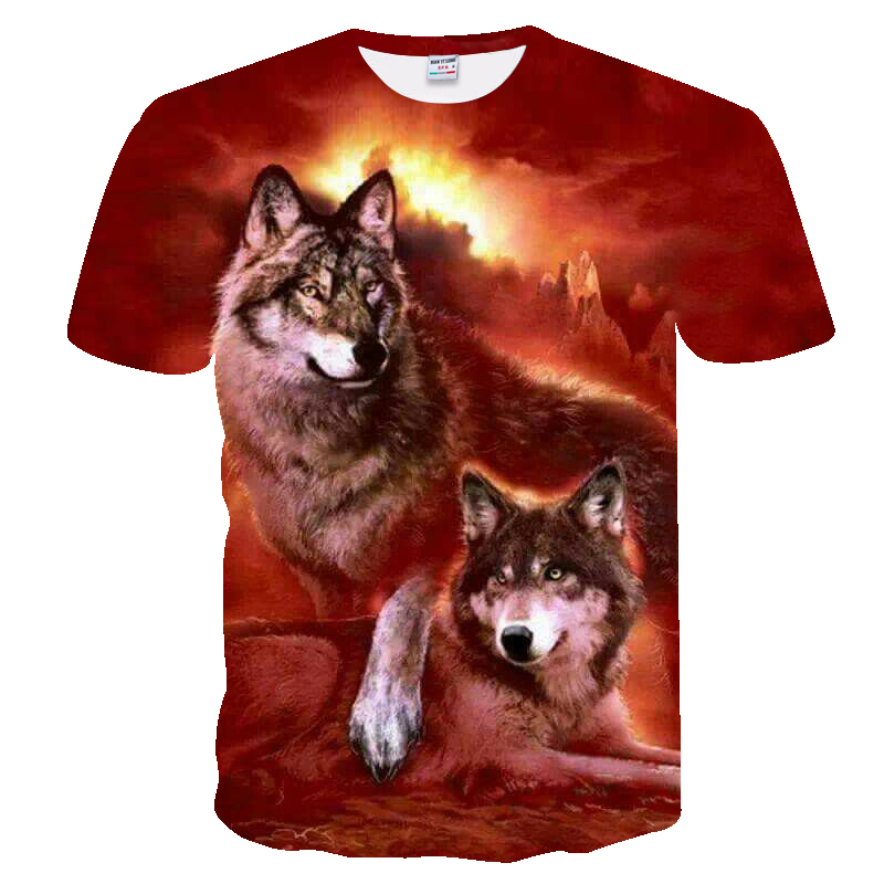 HTB1ORH9dqWs3KVjSZFxq6yWUXXau - Men's New Summer Personalized T-Shirt Wolf Print T-Shirt 3D Men's T-Shirt Novelty Animal Tops T-Shirt Men's Short Sleeve