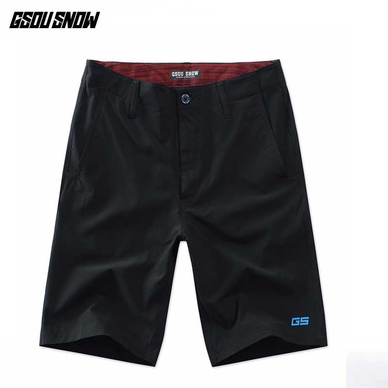 GSOU SNOW Beach Board Shorts Men Bermuda Surf Swimming Surfing short Men's Swimwear Summer Sea Sports Quick Dry