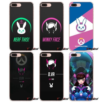 Game overwatch OW D Va For Huawei G7 G8 P7 P8 P9 Lite Honor 4C 5X 5C 6X Mate 7 8 9 Y3 Y5 Y6 II 2 Pro 2017 Cell Phone Case Covers