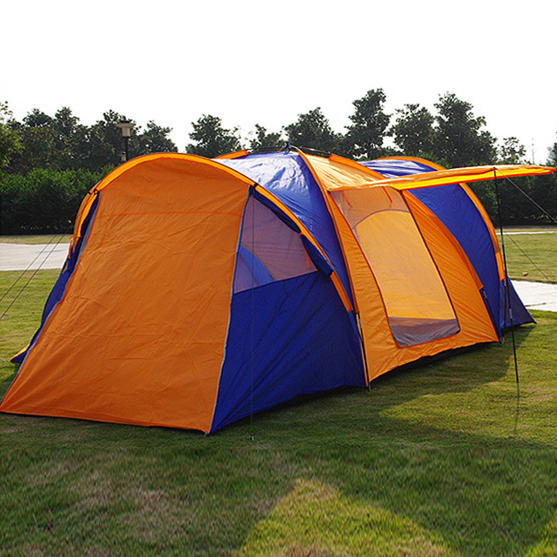 Outdoor multi person large tent two bedroom living room 5