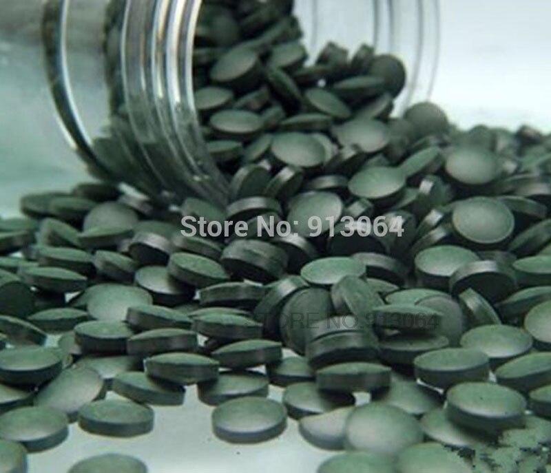 Tablette de thé à la spiruline verte, Anti-fatigue et Anti-radiation, de qualité standard d'exportation, 500g, riche en vitamines