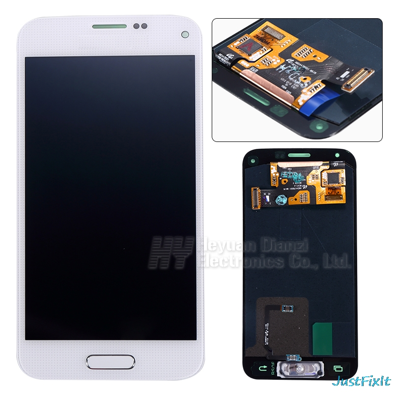 For <font><b>Samsung</b></font> Galaxy S5 Mini G800 <font><b>G800F</b></font> G800H Super AMOLED LCD <font><b>Display</b></font> Touch Digitizer Screen Assembly Sticker image