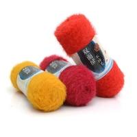 400g/Lot Soft Mink Crochet Yarn For Knitting Wool Handmade Luxury Fur Hairy Scarf Woolen Eco Friendly fil a tricoter lana