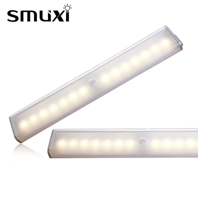 1W LED Light Bulb Tube Wireless PIR Motion Sensor Lamp Night Light Portable USB Rechargeable Lamp for Cabinet Closet 5V