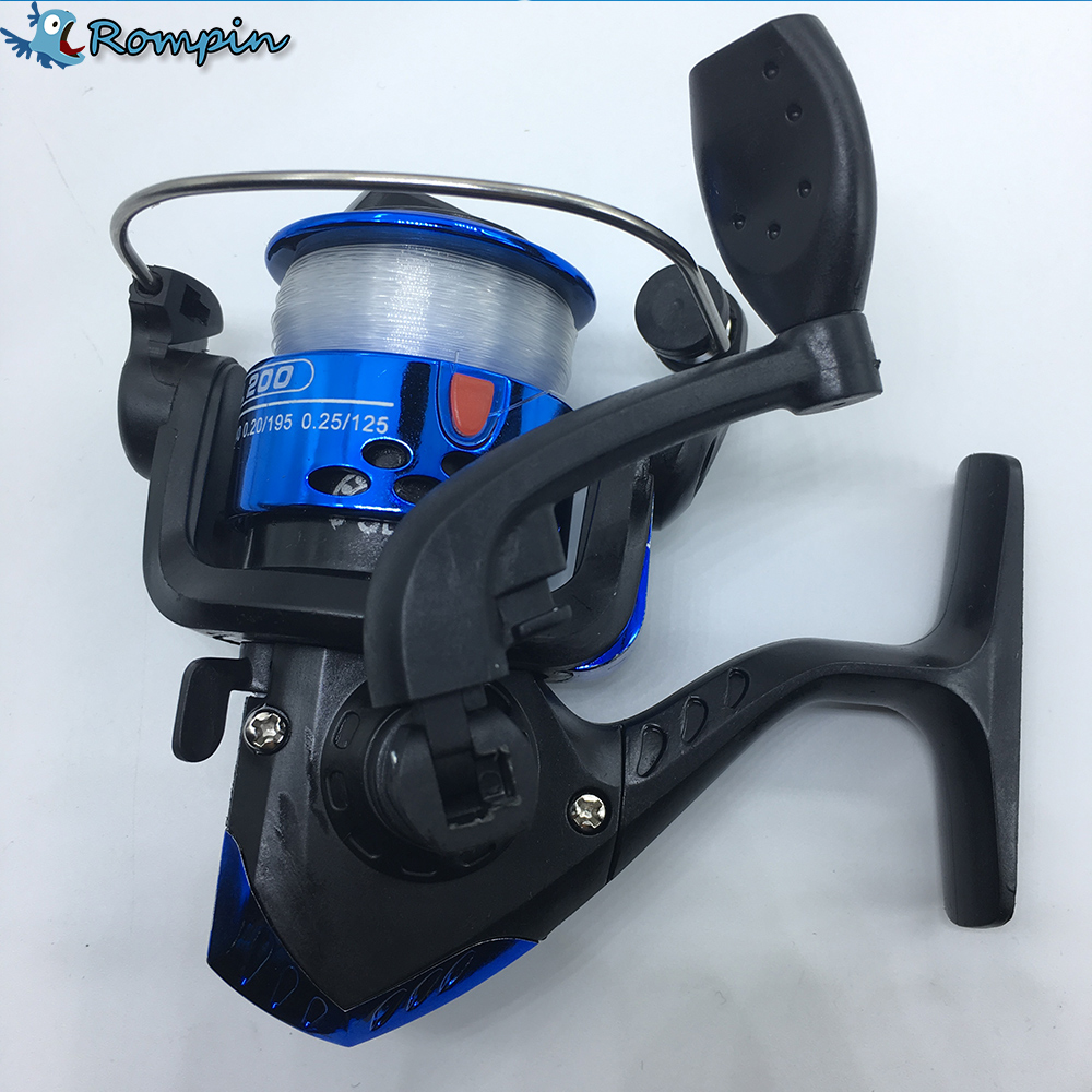 Rompin 5.1:1 Electroplate Spinning Fishing Reel Carp Fishing Wheel Spinning Reel for Sea Fishing
