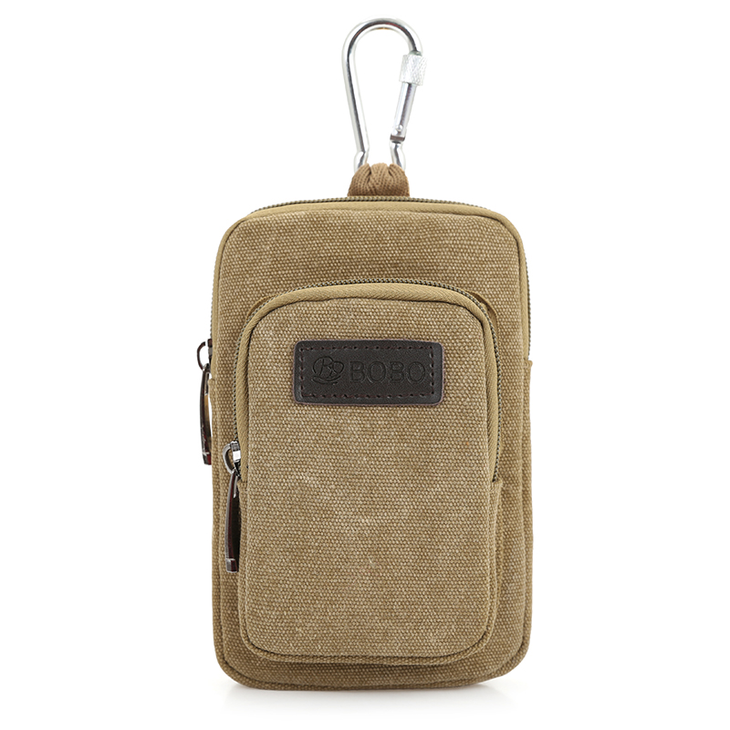 2017 Canvas Waist Bag Mini Arm Band Case Cell Phone Bags Double Pockets Pouch For wallets