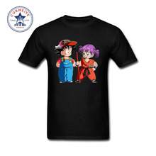 2017 New Arrive Funny Funny Goku Switch Cloth With Arale Anime Dragon Ball Cotton T Shirt