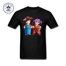 Entrañable camiseta con Goku y Arale como protagonistas