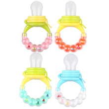 (Momy And Angel) 2016 New Baby Rattles 4 colors Size S-M-L Pacifiers Baby Fresh Fruit Food Feeder Infant Food Nipple Feeder